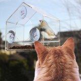 Casa salvaje de acrílico clara del pájaro del alimentador de la ventana del alimentador del pájaro