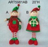 """"""" cadeau debout de décoration de Noël de H 23 avec Board-Asst. noir"""