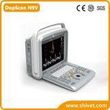 Scanner veterinario portatile di ultrasuono di Doppler di colore (DopScan N9V)
