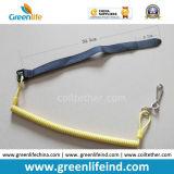 Изготовленный на заказ красный крюк проводки безопасности W/Webbing&Carabiner инструмента шнура спирали безопасности