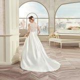 A elegante - linha vestido de casamento 2017 do cetim