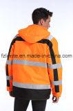 冬の反射パッドを入れられた高い可視性の安全ジャケット