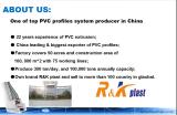 Perfis plásticos da extrusão do PVC