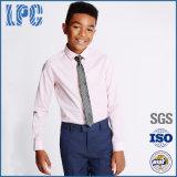 Het zuivere Katoenen Lange Formele Overhemd en de Band van de Koker voor Eenvormige Lage school