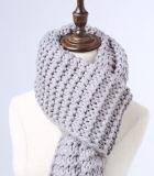 Klumpiger Knit-Superschal-übergrosser gestrickter langer Schal der Frauen (KA103)