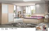 現代設計されていた木の寝室の家具の正方形のベッド(UL-LF017)