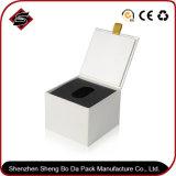 Коробка бумаги подарка белого квадрата изготовленный на заказ упаковывая
