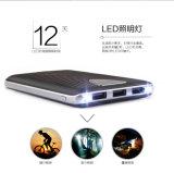 Bewegliche Telefon-Aufladeeinheit, externe Fackel-bewegliche Energien-Bank der Taschenlampen-bewegliches Powerbank und 3 USB/LCD Screen/LED