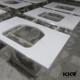 Kingkonreeの現代固体表面のホテルの浴室の虚栄心の上