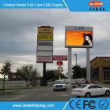 Bordo della strada esterno di P16 P10 che fa pubblicità al colore completo  Visualizzazione di LED