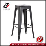 30 '' alto metallo d'argento Backless Barstool Dell'interno-Esterno con la sede quadrata