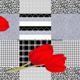 le plaid Pigment&Disperse de la tulipe 100%Polyester a estampé le tissu pour le jeu de literie