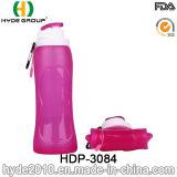 Chegada nova que Biking a garrafa de água plástica do esporte de BPA livre, garrafa de água Foldable plástica (HDP-3084)