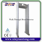 Camminata su sensibile della strumentazione di obbligazione tramite il metal detector con quattro rotelle laterali