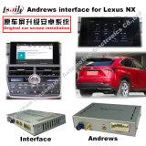 Gps-Navigations-Schnittstellen-Kasten für Lexus Es/Nx/ist mit hinterer Ansicht, Touch Screen