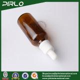 янтарные стеклянные бутылки эфирного масла 50ml с белой капельницей