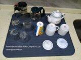 Estera de sequía de la pulgada 22*18 de la cocina del silicón de gran tamaño de la categoría alimenticia