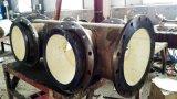 Alumina resistente al desgaste Ceramic Lined Pipe de acero compuesto de la curva