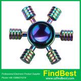 Girador da mão do girador da inquietação do EDC do arco-íris do leme da liga do zinco Fs063 com certificação do Ce