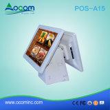 POS-A15 ristorante Android tutto in un sistema di posizione di tocco con visualizzazione doppia