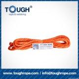 Fibra 100% resistente de Uhwmpe da corda da corda sintética do guincho Orange11mmx30m4X4
