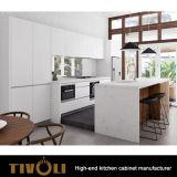 Glasig-glänzende Küche-Schränke mit Quzrtz übersteigt Insel Tivo-0171V