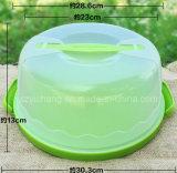 Ясная пластичная несущая хранения расстегая круглого торта с фиксировать крышку и ручку