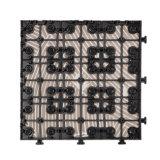 Anti mattonelle di pavimento di ceramica di sbiadisc di Decking di colore Mixed con la base del PE