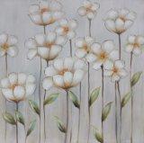 De mooie Kleur bloeit het Met de hand gemaakte Olieverfschilderij van het Canvas voor de Decoratie van het Huis