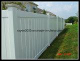 Cerca bonita permanente ao ar livre do vinil do PVC do estilo arquitectónico