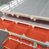 Pannello a sandwich del poliuretano, comitati isolati unità di elaborazione per il tetto e parete