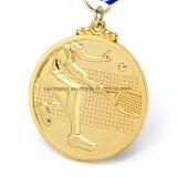 Medaglia in lega di zinco personalizzata di sport del premio di doratura elettrolitica