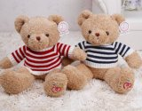 Wearing Shirt Sitting Soft Peluche Teddy Bear Toy