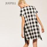 Neues Art-Form-Plaid-Kleid mit Zeichenkette
