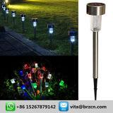 플라스틱 태양 잔디밭 램프, LED 옥외 점화 안마당 태양 정원 빛