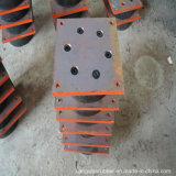 Rolamento de borracha de umedecimento elevado para o isolador para a ponte e a construção