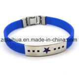 Wristband ajustável relativo à promoção feito sob encomenda do silicone com Thb-012
