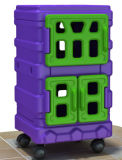 Mobília temático para crianças - armazenamento da cidade bonito de Kaiqi (KQ50180A)