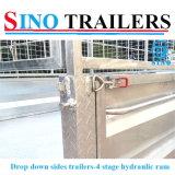 Beste Qualitätsfabrik, die hydraulische umkippende Schlussteile mit versieht abfallen unten mit Seiten
