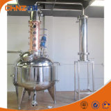 de 200L 500L 1000L de fábrica del precio del acero inoxidable y del cobre todavía del crisol destilación