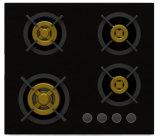 Stufa di gas unica suprema del bruciatore dell'ottone quattro (nuovi di vetro di 8mm)