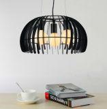 Moderna Cafetería Bar LED Decoración Cage Pendent lámpara de luz