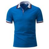 Chemises de polo faites sur commande de couleurs de filé de collier rayé à extrémité élevé de teinture pour le détail (OEM)