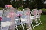 Silla de plegamiento plástica de la boda de la venta del asiento caliente del acoplamiento con el marco del metal