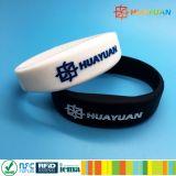 Braccialetto dei Wristbands Ntag215 NTAG216 NFC del silicone di formula RFID di NFC
