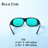 FTE-Lasersicherheits-Gläser 630-660nm&800-830nm Vlt: 30% für rote Laser, 808nm Dioden, 635nm Laser, 808nm Laser, Haut-Schönheits-Gerät