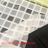Tecido de poliéster jacquard tingido com fibra química para cortina de vestuário