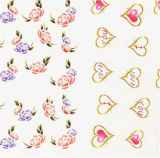 Etiqueta do prego da etiqueta da arte do prego de transferência da água dos decalques da flor do coração