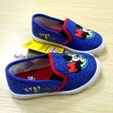 De goedkope Nieuwste Schoenen van de School van de Schoenen van het Comfort van de Schoenen van Cnavas van de Injectie van Kinderen (ff921-4)