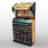 Crémaillère d'étalage debout d'étage de chocolat de carton